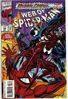 Web of Spider-Man : Sin City (Maximum Carnage - Marvel Comics): Terry Kavanagh, Alex Saviuk: Books Marvel Comics, Marvel Comic Books, Comic Book Heroes, Comic Books Art, Comic Art, Marvel Art, Amazing Spiderman, Book Cover Art, Comic Book Covers