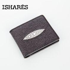 ISHARES Hot 1pcs short Designer Brand Business Brown Black Genuine Leather Men Wallets Skin Printed Purse Card Holder ISPK6007-A