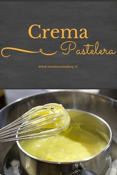 Pastry cream, Chilean recipe- Crema pastelera, receta chilena The custard, this recipe is detailed and gives an excellent taste and without lumps. Chilean Recipes, Chilean Food, Pan Dulce, Dehydrated Food, I Chef, Food Humor, Sweet And Salty, Desert Recipes, Sweet Recipes