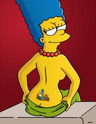 Tramp Stamp By Wvs1777 Marge Simpson Marge Simpson