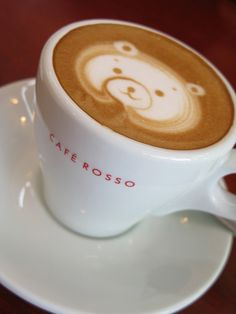 Latte Bear by nagaremono, via Flickr - frame image of a cup of coffee/espresso/latte in kitchen.