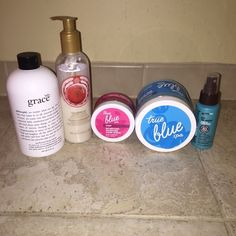 Huge Beauty Bundle!!! Beauty Bundle contains (in order): Philosophy Grace Body Cream (half used), The Body Shop Cranberry Joy Shimmery Body Lotion, Bath and Body Works Hand And Cuticle Exfoliator (used 3 times), Bath and Body works Sea Salt Exfoliator (half used), and Healthy Sexy Hair Leave in Conditioner Spray never used Bath and Body Works Makeup