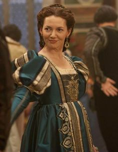 Vanozza's beautiful blue gown - The Borgias. This series costumes are so breathtaking that I can't stop looking at them!