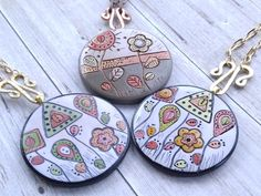 Polymer clay pendants introduced Spring 2017
