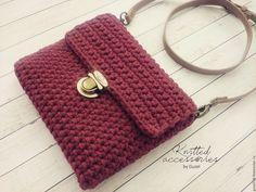 Вязаная сумка - купить или заказать в интернет-магазине на Ярмарке Мастеров - C6HLDRU. Бугульма | Вязаная сумка в красивом цвете бордо, надежный…