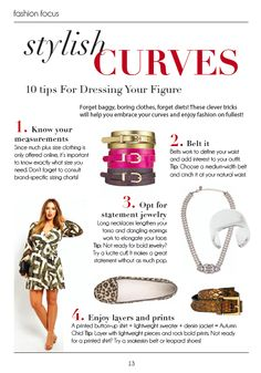 stylish curves - how to dress your figure, more at www.BellaMagazine.eu