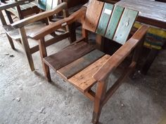 reclaimed boat wood chair - www.balisourced.com