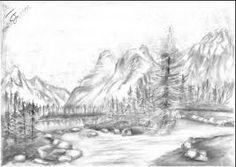 Resultado de imagen de dibujos de lapiz de carbon de paisajes