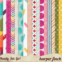 Ready, Set, Go! Series, Patterned Papers 2 by harperfinch.deviantart.com on @DeviantArt