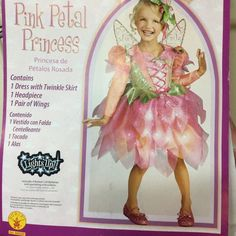 Fairy Costume Pink Girls Toddler 3T  4T Tinkerbell Renaissance Princess Wings  #Rubies #CompleteOutfit