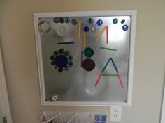 """Recycle materials for the magnet board - from Play At Home Mom ("""",)"""