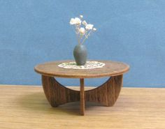For my Rowhouse - WOODEN COFFEE TABLE 112 Scale Model Collectible by MiniModels, $14.00