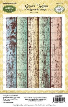 Upcycled Woodgrain Cling Background Stamp
