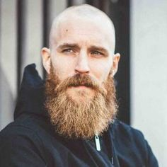 Shaved-Head-with-Full-Beard-Hipster