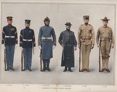 Marine Corps Uniforms, 1912,