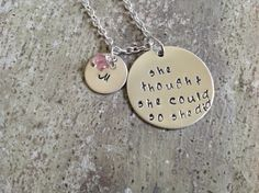 I just listed she thought she could so she did graduation necklace on The CraftStar @TheCraftStar #uniquegifts