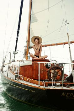 10 Impossibly Gorgeous Photos Of Model Luma Grothe Sailing In Mexico