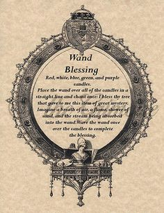 Wand Blessing, Book of Shadows Pages, Real Witchcraft Spell, Wicca, BOS