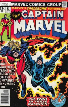 Captain Marvel #53. That's Black Bolt of the Inhumans sharing the cover with Mar-Vell.