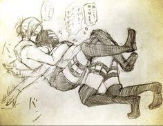 Annie hugging eren