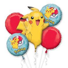 Mål mindre runde ballonger (4stk): 43cmPynt litt ekstra til bursdag med Pokemon folieballonger. 5 ulike ballonger i pakken!Mål stor ballong (1stk): 62cmx78cm Pikachu Pokemon Go, Pokemon Logo, Pokemon Themed Party, Pokemon Birthday, Pokemon Balloons, Pokemon Printables, Pokemon Decor, Balloon Cartoon, Toy Story Buzz Lightyear