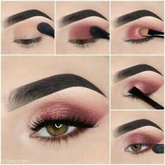 Here we have compiled simple eye makeup tips pictures. They can help you become an eye makeup expert. You can also easily get the perfect eye makeup. Makeup Eye Looks, Eye Makeup Steps, Simple Eye Makeup, Makeup Goals, Makeup Kit, Beauty Makeup, Makeup Ideas, Men Makeup, Candy Makeup