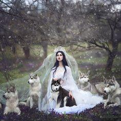 femme-robe-mariee-loups