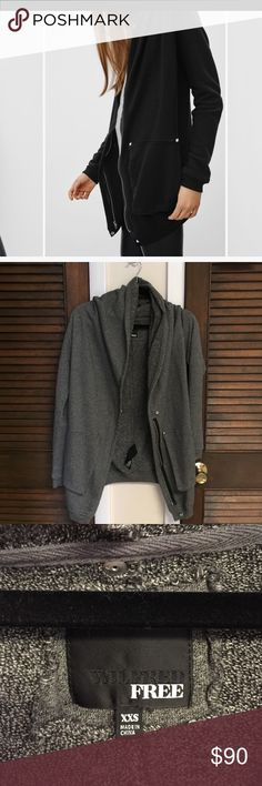 Aritzia Wilfred Free Rousseau Cardigan Dark Grey. Size XXS (fits loosely). Worn 2-3 times Aritzia Sweaters Cardigans