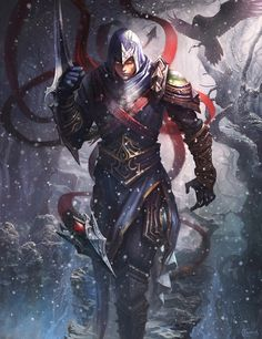 arm_blade echo-cs hood league_of_legends tagme talon_(league_of_legends) weapon