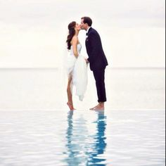 Perfect beach wedding picture!