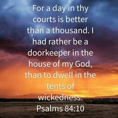 Doorkeeper of the house of my Lord...
