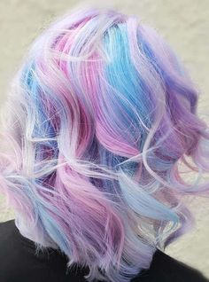 Best Hairstyles & Haircuts for Women in 2017 / 2018 Image Description Light Blue And Purple Color On Blonde Hair galaxies with blue and purple hair color ideas. Pick a light pastel option or bright ombre, mermaid hair, or highlights. Blue Purple Hair, Light Blue Hair, Hair Color Blue, Blonde Color, Cool Hair Color, Pastel Blonde, Pink Blue, Blonde Hair, Colored Hair