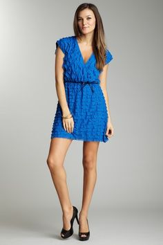 Love it! with stretch pants.Blowout  MK2K & 213 by Michelle Kim Tiered Ruffle Dress with Belt