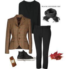 the riding blazer & black converse chic