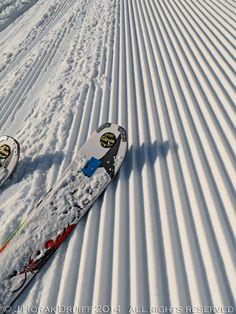 I love the smell of fresh corduroy in the morning! :) #Obertauern  #Austria #ski #skiing #snow #powder #tracks #trax #skiresort #pow