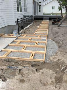 Prepping for custom paver walkway