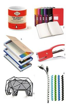 4. The organize all of those cables so your office stays neat and clean: Colorful Cable Twisters from The Container Store, $9.99 for a package of 3.