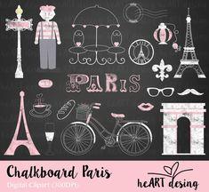 Kit Digital Chalkboard Paris