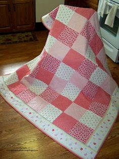 Sophia's Sundries (formerly Frugal Ideas from the Parsonage): Homemade Gift: A Quilt for My Beautiful Daughter