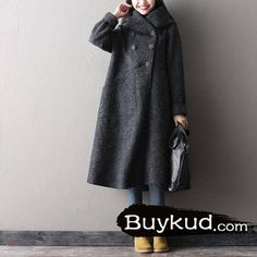 Women Winter Long Woolen Coat
