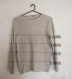 DIY: sweater degradé + como teñir con anilina. Long Sleeve, Sleeves, Mens Tops, T Shirt, Diy, Fashion, Trends, Tee, Moda