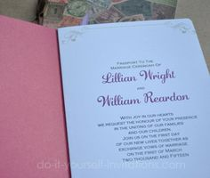 DIY passport wedding invitations - otima ideia!!!