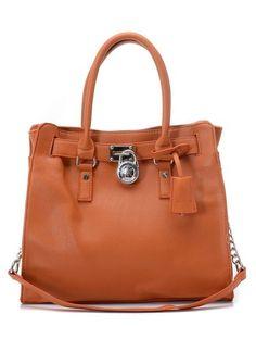 Michael Kors Hamilton Large Tote Luggage Leather