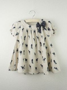 Girls Deer Silhouette Top