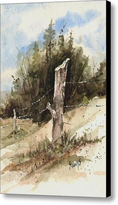 Fence Post Canvas Print / Canvas Art By Sam Sidders