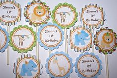 Safari Jungle Zoo Animal Happy Birthday by ThePartyPaperFairy, $20.00