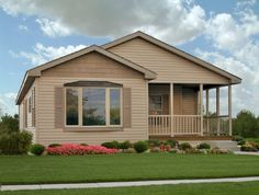 Exteriors - Commodore Homes  End Elevation - Perfect for narrow lots!  (Manufactured or Modular Home)