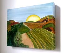The English Countryside  Acrylic on Canvas