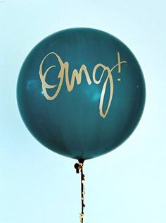 Tassel with 36 Balloon: Signature OMG by dropitMODERN on Etsy
