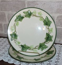 Franciscan Ivy luncheon plates 9.5  inches set of 2 by Prettydish
